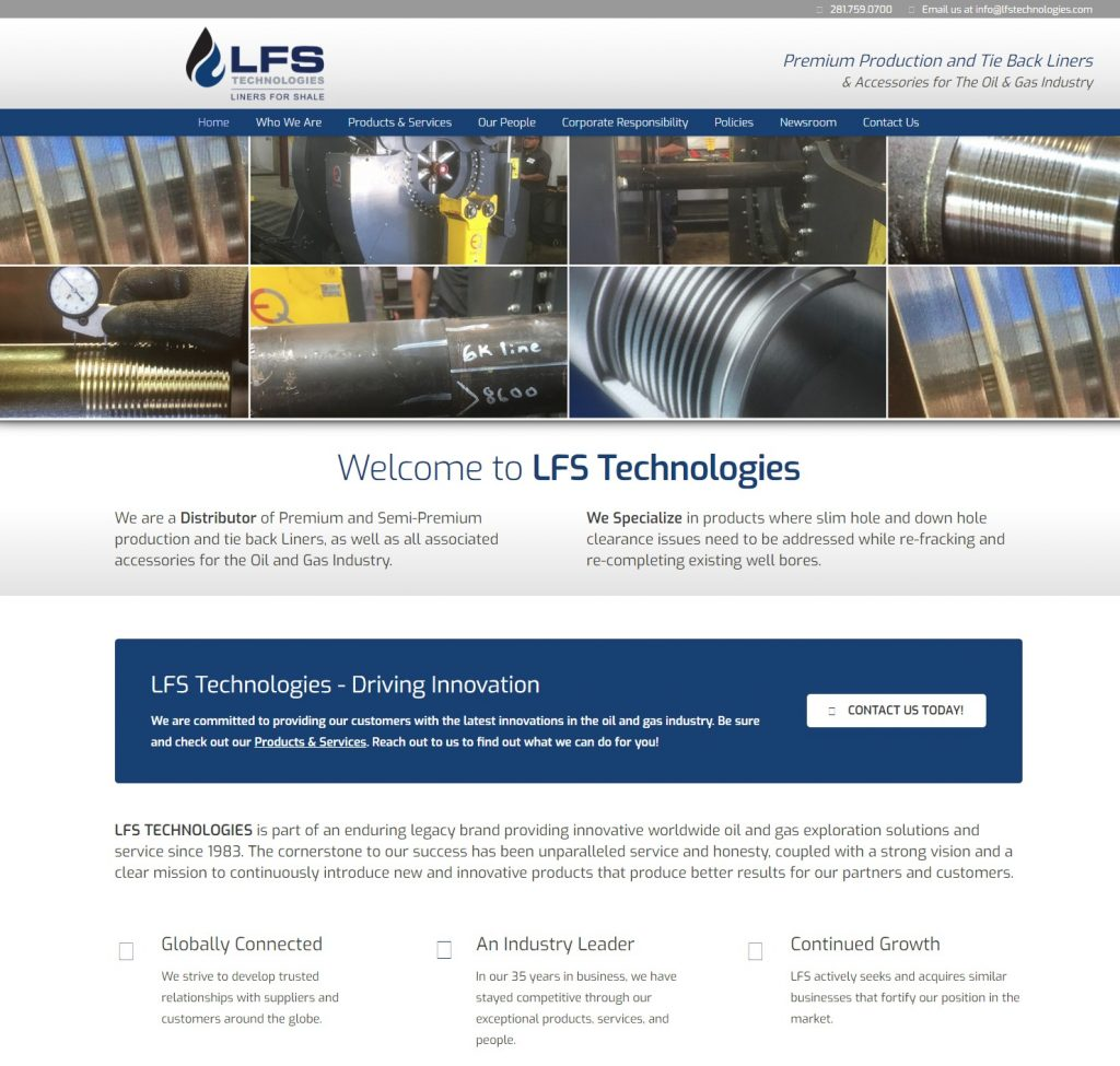LFS Technologies - Liners for Shale