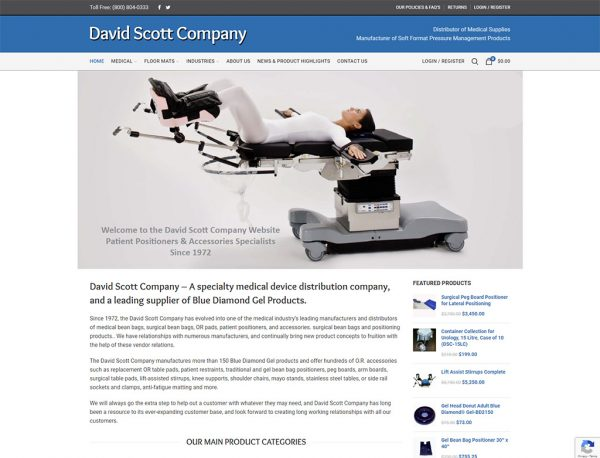David Scott Company - Redesigned in Wordpress and WooCommerce by DotCom Information Services