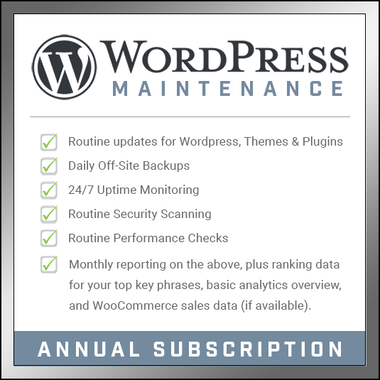 WordPress Maintenance - Annual Subscription