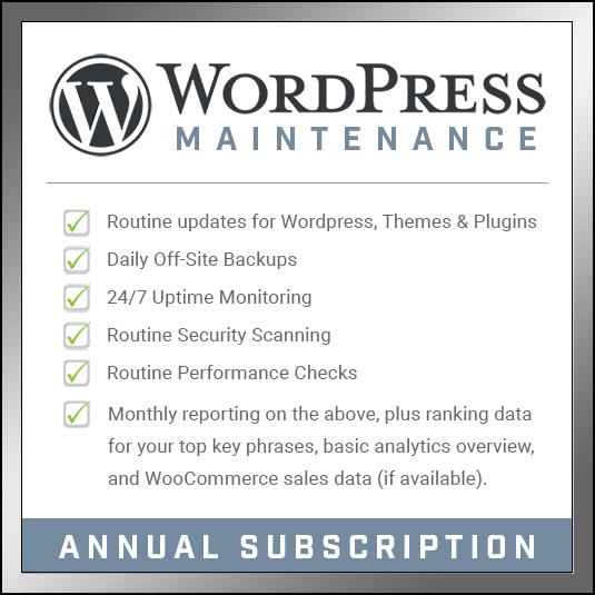 WordPress Maintenance - Annual Subscription