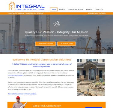Integral Construction Solutions