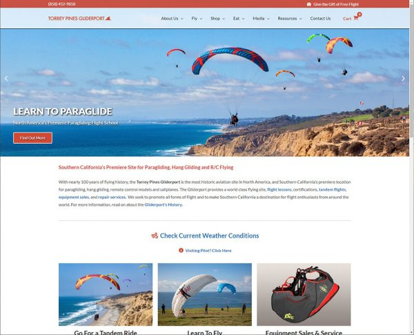 Torrey Pines Gliderport - Designed & Managed by DotCom Information Services